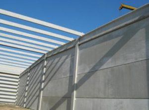 Struttura di copertura in travi di cemento