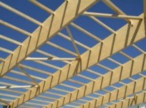 Struttura di copertura in travi di legno