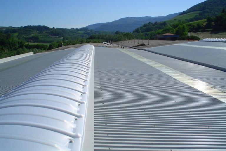 Copertura tetto nuovo capannone industriale