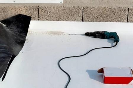 Posa teli sintetici in TPO e PVC