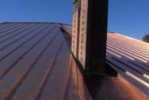 Rifacimento tetto case privata in rame aggraffato