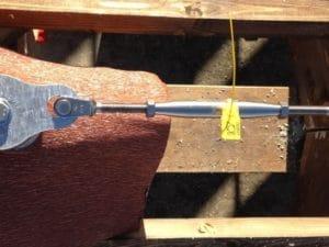 Linea Vita tetto in legno SicurDelta particolare sigillo