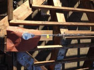 Linea vita tetto in legno ancoraggio iniziale