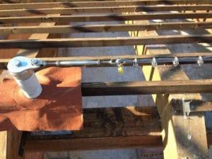 Linea vita tetto in legno