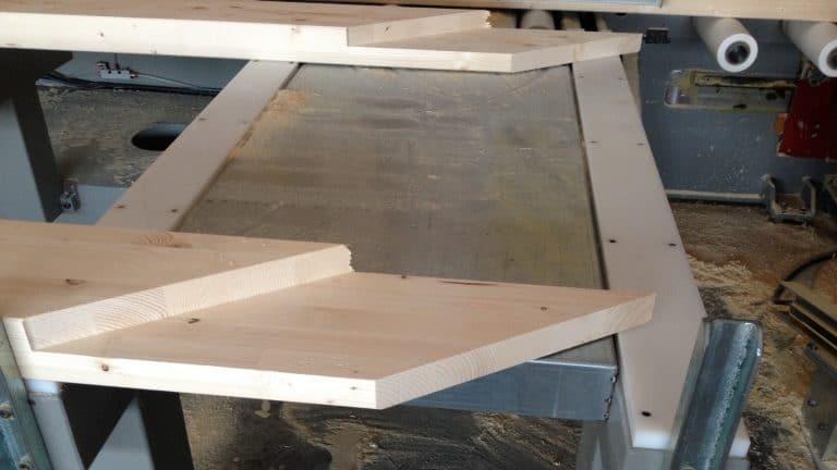 Particolare lavorazioni CNC travi lamellare