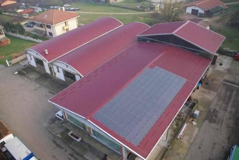 Rifacimento copertura metallica su azienda vinicola