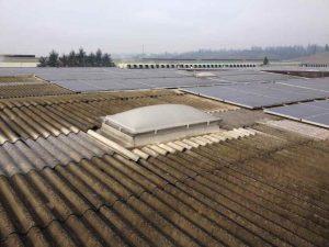 Impianto Fotovoltaico su vecchio tetto in eternit