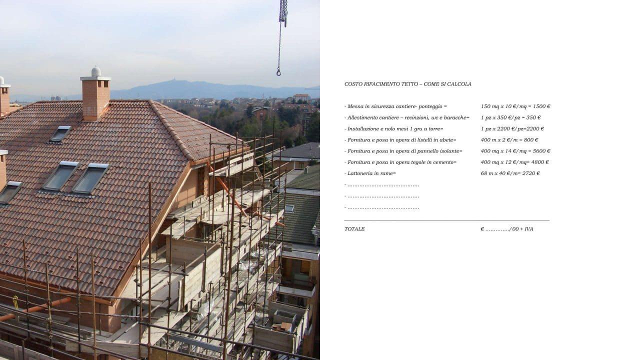 Costo Ristrutturazione Casa 50 Mq costo rifacimeno tetto in legno, cemento e ferro - esempio