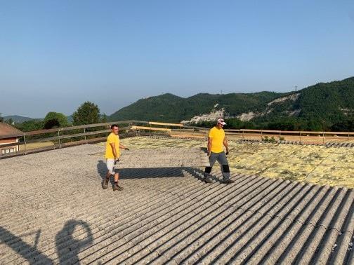 rimozione delle lastre in fibro-cemento ecologico