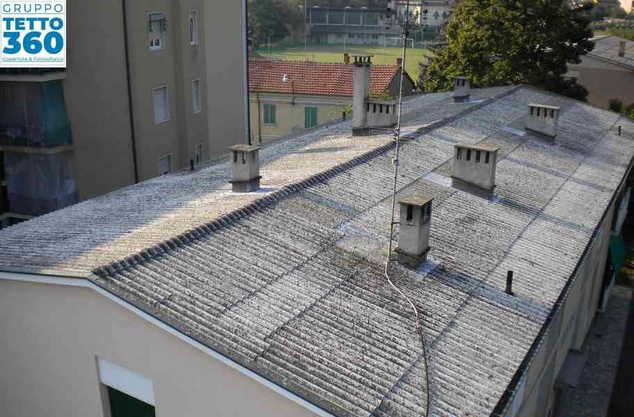 bonifica amianto su tetto condominiale