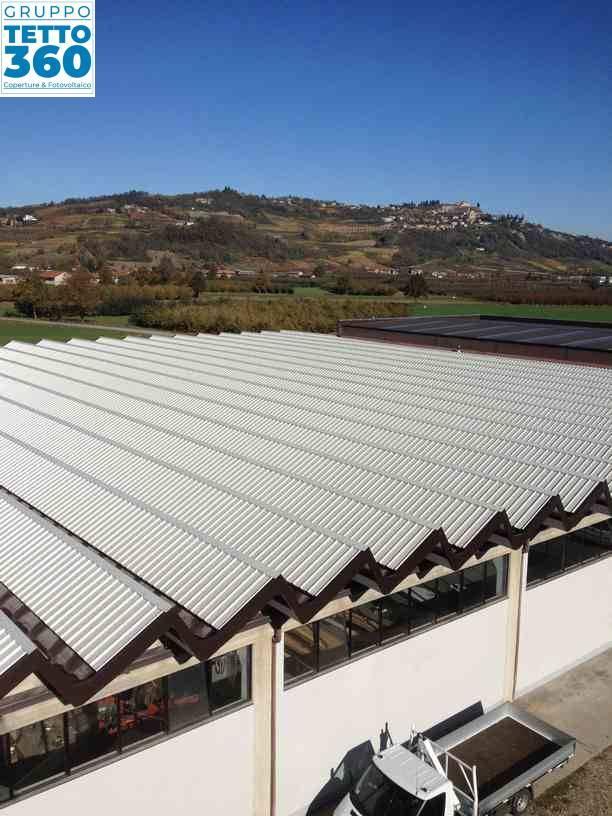 copertura industriale a shed