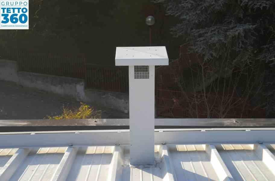 lattoneria su tetto condominiale