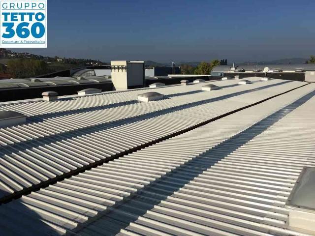 Bonifica Amianto Alba su copertura industriale -lucernari coibentati