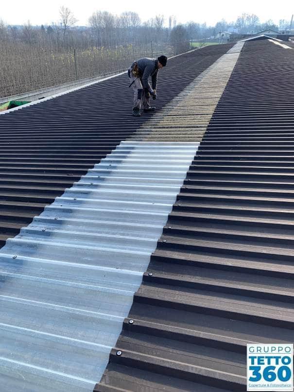 sostituzione plastiche sul tetto
