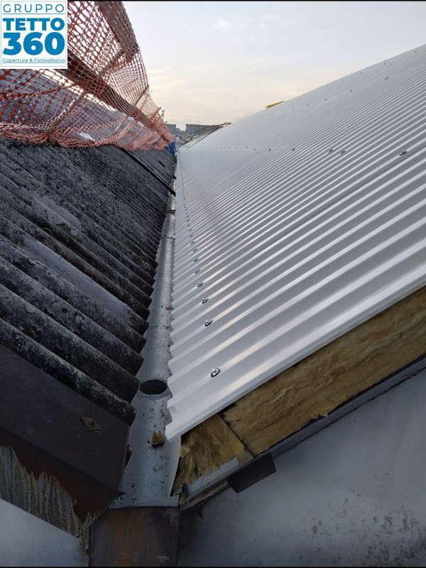 copertura metallica coibentata in opera torino