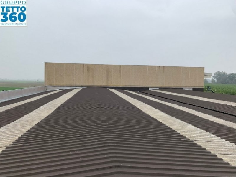 Sostituzione lucernari tetto industriale in provincia di Cuneo