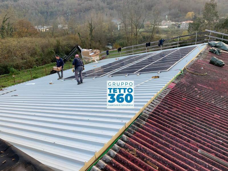 bonifica amianto ed installazione impianto fotovoltaico in provincia di genova