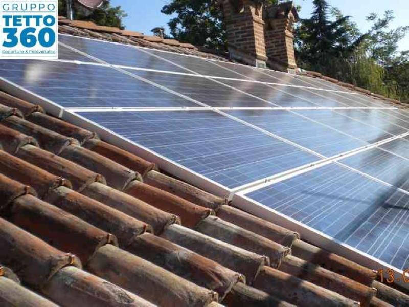Rifacimento tetto in legno casa e installazione Impianto fotovoltaico 6 kw
