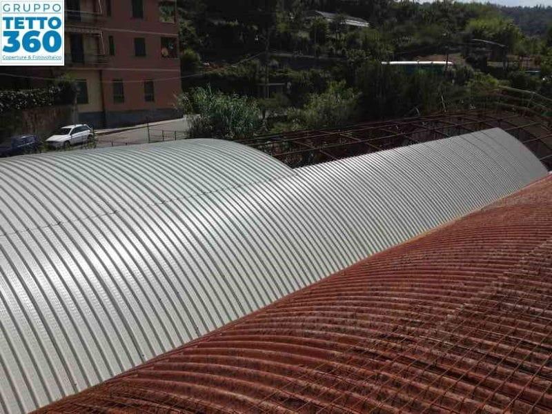 Smaltimento Amianto Genova su capannone in ferro